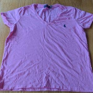 Pink Ralph Lauren t-shirt